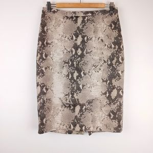 THE LIMITED | Snake Skin Print Pencil Skirt